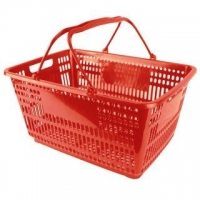 32L Red Shopping Basket - Pk.12