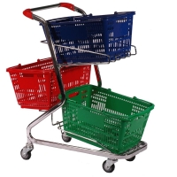 60L Convenience Basket Trolley