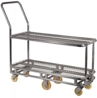 Small Double Tier Stock Trolley