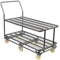 Large Double Tier Stock Trolley
