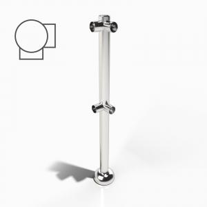 Rail Post Corner Upright Right Hand
