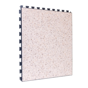 Cream Terrazo Design Tile - Grey Grout - Click for more info