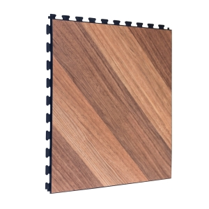 Light Oak Design Tile - Black Grout