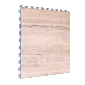 Marble Design Tile - Light Grey Grout