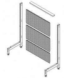 Shelving 1 Side Start Bay 1445 Punch OGr