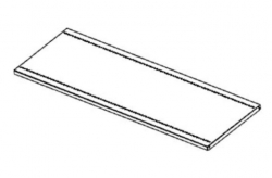 Steel Shelf Oyster Grey 915 x 305