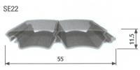 Slat E23 Uni PVC 3900mm White