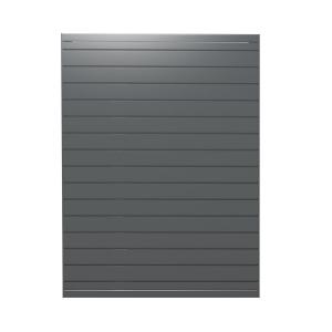 Metal Slatwall   Greystone Powdercoated