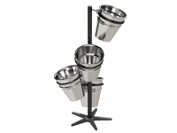 Small Floor Display Stand with 4 Buckets