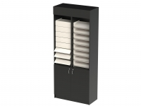 Tower Cigarette Unit with shutter Black