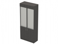 Tower Cigarette Unit with shutter Grey