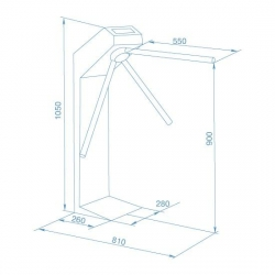 Perco Mechanical Turnstile Gate